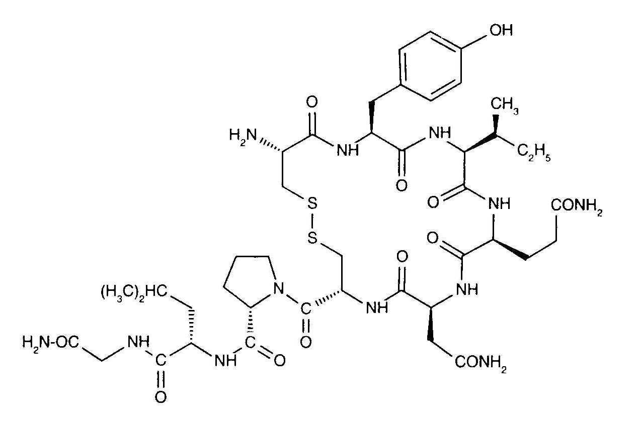 Oxytocin Molecule Kemijska struktura